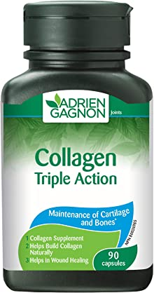 Collagen With Lysine & Vitamin C, Triple Action, 90 Capsules, by Adrien Gagnon