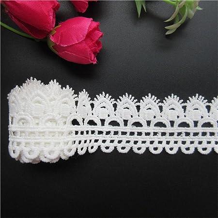 Guipure en dentelle brod/ée /à motif floral pour couture et loisirs cr/éatifs 4,6/m.