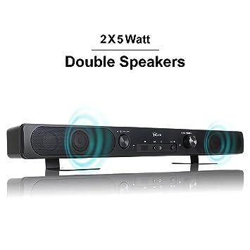Amazon.com: HAISSKY Sound Bar Wireless Bluetooth Speakers Audio ...