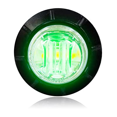 "Maxxima M09300G Green 3/4"" Round LED Courtesy Marker Light: Automotive"