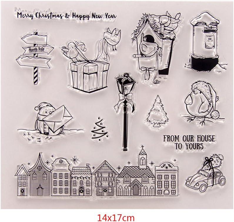 Kalttoy DIY Silikon Klar Stempel Blatt Scrapbooking Album Foto DIY Geburtstag Weihnachten Valentinstag Thanksgiving Geschenke