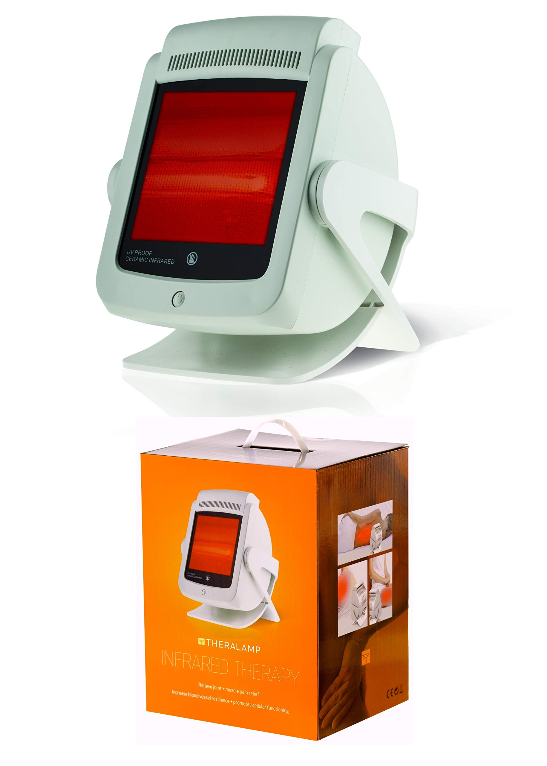 Red Light Therapy Infrared Heat Lamp by TheraLamp - Infrared Therapy for Pain in Muscles, Back Pain, Blood Circulation by M PAIN MANAGEMENT TECHNOLOGIES