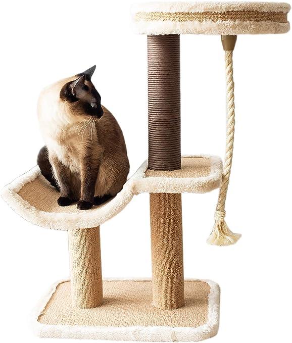 Amazon.com: Catry, cuna de árbol para gatos con postes de ...