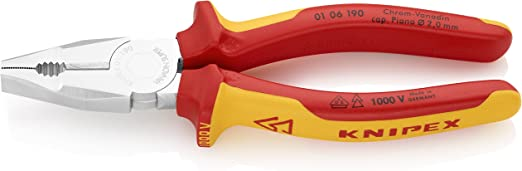 """Insulated Knipex 01-06-190 7.5/"""" Combination Pliers"""