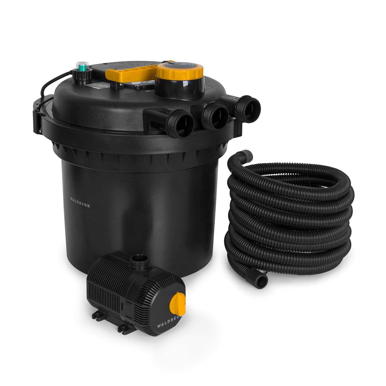 bomba de 35 W con 10 metros de cable luz UV-C filtrado de 9000 l//h 11 W manguera de 5 metros Waldbeck Aquaklar filtrado para estanque para estanque con o sin peces de hasta 3000//6000 litros