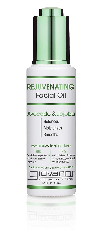 GIOVANNI Rejuvenating Facial Oil - Avocado & Jojoba, Balances Moisturizes and Smooths, 1.6 Fl Oz: Beauty