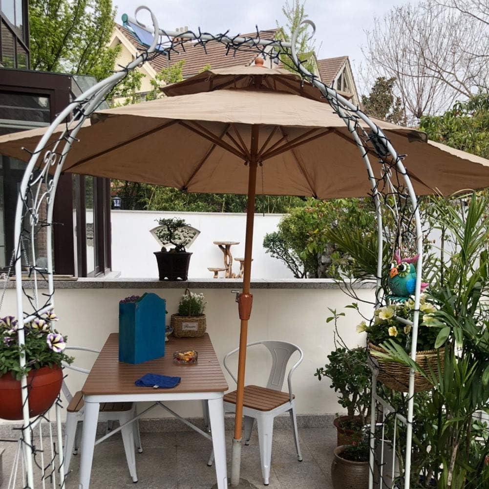 270cm Sombrilla Parasol de para terraza jardín Hostal balcón Camping, protección Solar UV Plegable antiviento (Marrón) Paraguas Sol: Amazon.es: Hogar