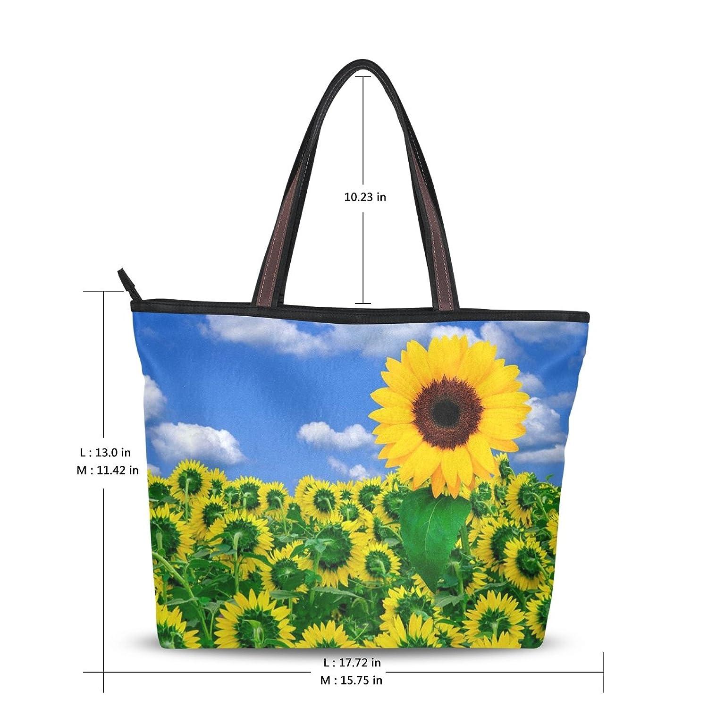 2016 Women's New Fashion Handbag Shoulder Bags,Cute Sunflower Pattern ,Tote Bag