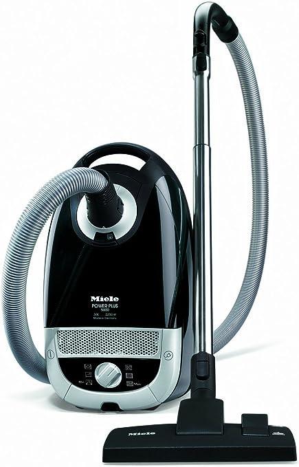Miele Power Plus S5211 Bagged Cylinder Vacuum Cleaner, 2200 Watt, Obsidian Black