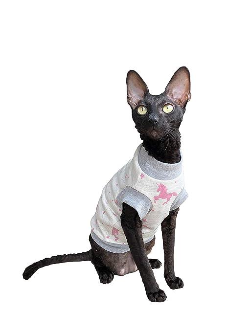 Kotomoda Ropa para Gatos Cuello Alto Unicornio en Blanco (L)