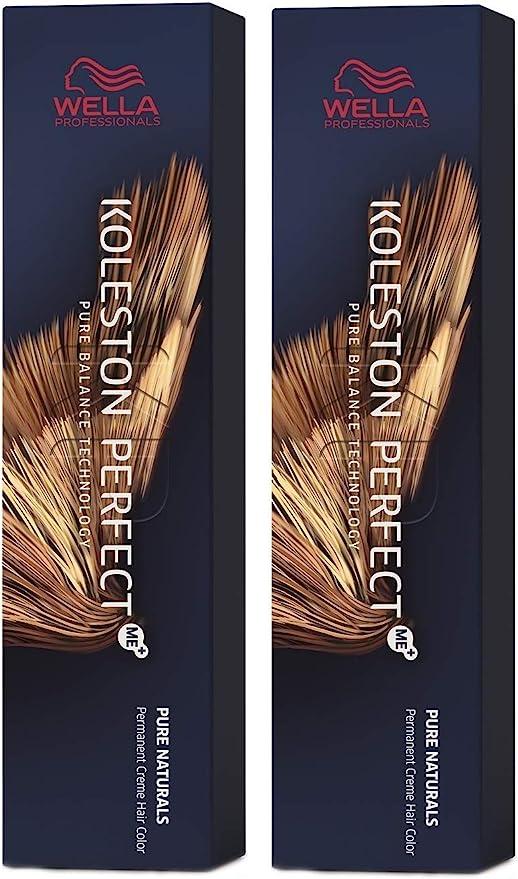 Wella Koleston Perfect Me+ KP Pure Naturals 7/00 - Pack de 2 unidades, color rubio medio natural