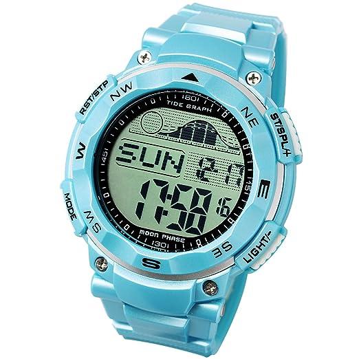 LAD WEATHER Reloj Gráfico de Mareas Fases Lunares Marea Alta Marea Baja Pesca/Surf/