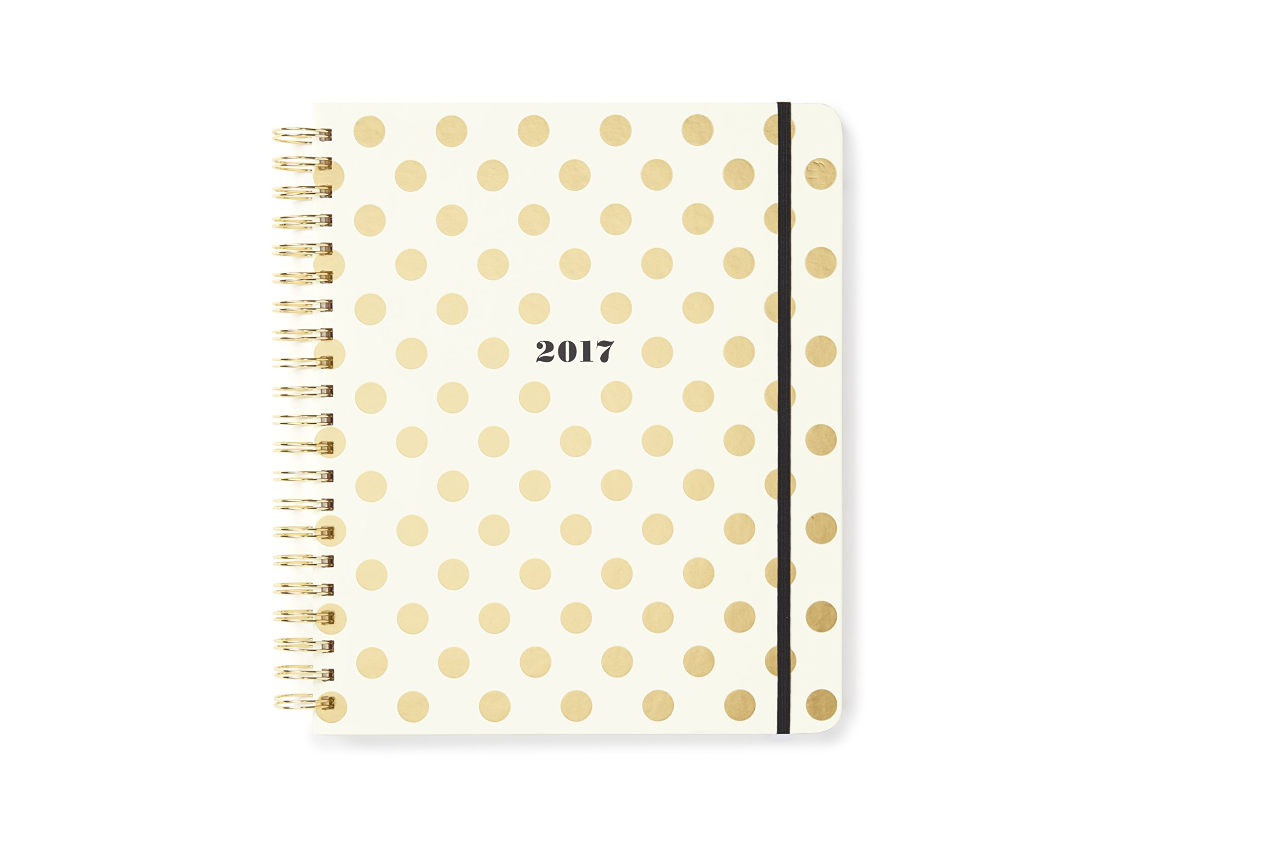 kate spade new york Conceal Sprial 2016-17 Jumbo Spiral Agenda, Gold Dots by Kate Spade New York