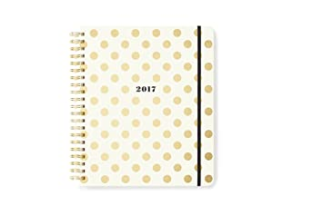 kate spade new york Conceal Sprial 2016-17 Jumbo Spiral Agenda, Gold Dots