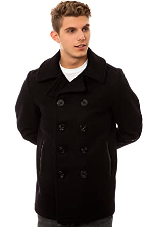 35f8856e011 Schott NYC 32oz Slim Fit Peacoat 42 Navy at Amazon Men s Clothing ...