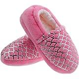 shoeslocker Boys Girls Slippers Little Kids Warm Plush Slippers