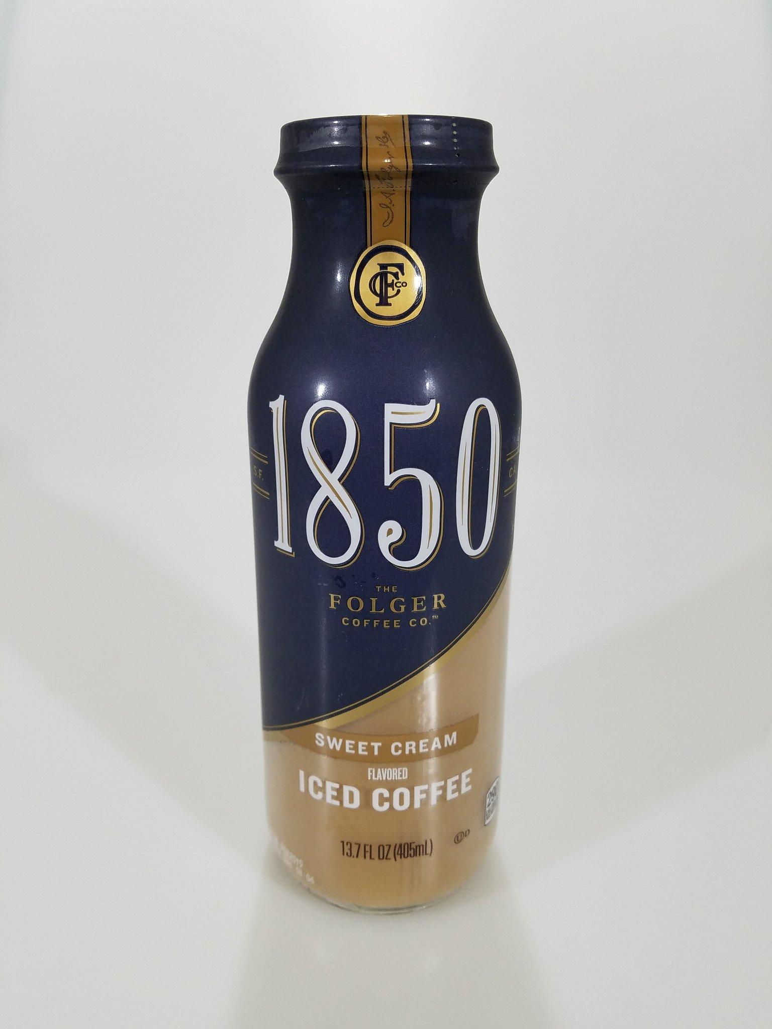 Folgers 1850 Premium Bottled Iced Coffee (Sweet Cream)