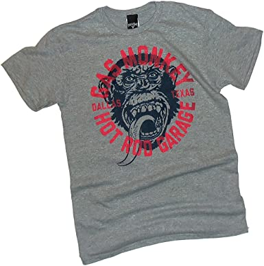 Gas Monkey Garage Fast N Loud T-Shirt Grey Small