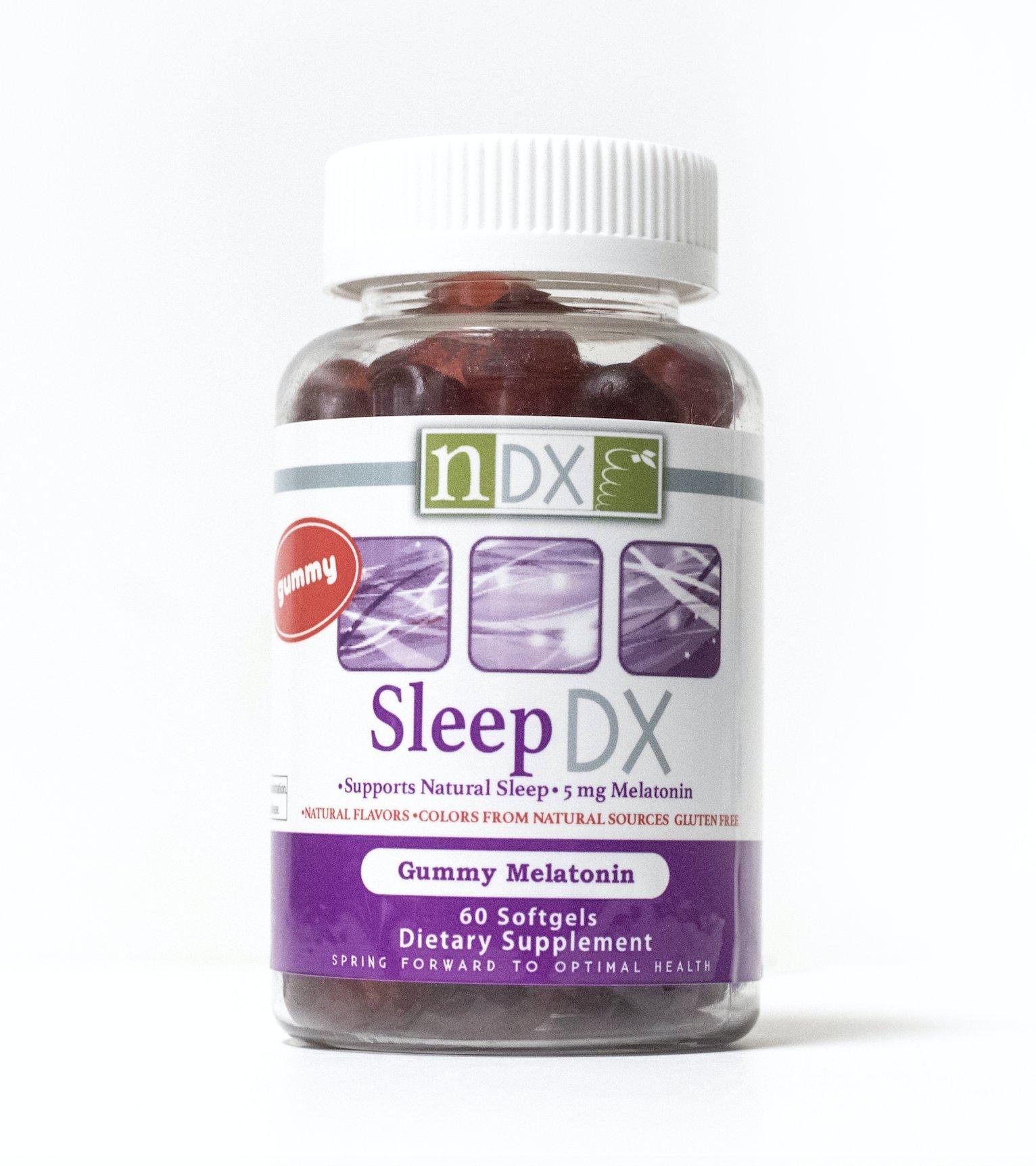 Sleep DX, Gummy Vitamin, Sleep Support, Supplement, Melatonin Gummies, Supports Natural Sleep, Gluten Free, Vegan, All Natural Ingredients (60)