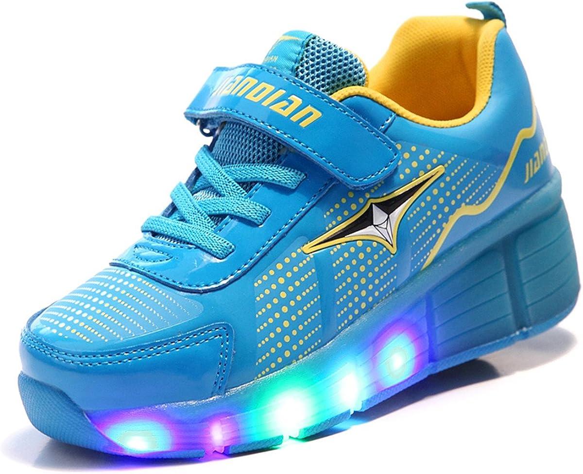 Viken Azer-UK Laufschuhe Sportschuhe Kinder Skateboard Schuhe Kinderschuhe mit Rollen LED Skate Schuhe Trainer Sneakers Rollen Schuhe f/ür Junge M/ädchen