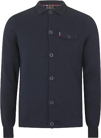 Merc Rathbone Camisa de trabajo de manga larga para hombre con cierre de botones y bolsillo en el pecho azul marino XL: Amazon.es: Ropa y accesorios
