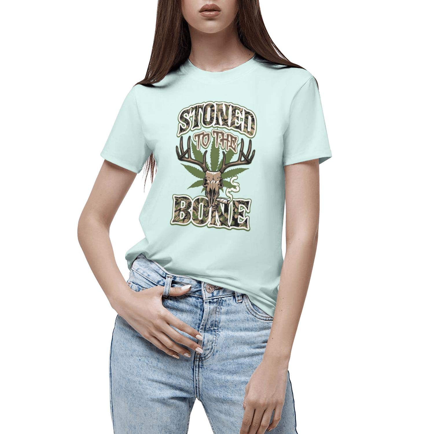 LunchBaggg 420 Cannabis Culture Girls Graphic Tees Short Sleeve Round Neck Athletic T Shirts