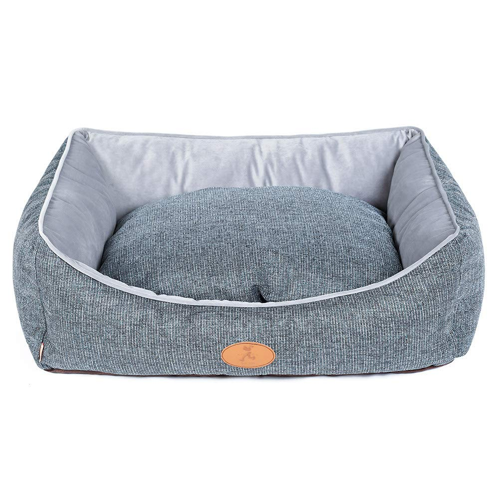 29.53x23.62x9.84in BYCWS Rectangle Pet Bed, Pet Products Self-Warming Lounge Sleeper Pet Bed Cuddler Pet Bed,29.53x23.62x9.84in