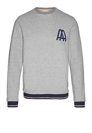 644dacfcb8f4 armedangels Herren Sweatshirt aus Bio-Baumwolle - Luan M Grey Melange GOTS,  Organic,