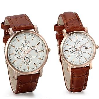 Amazon Com Jewelrywe Classic Quartz Watches With Date Set For