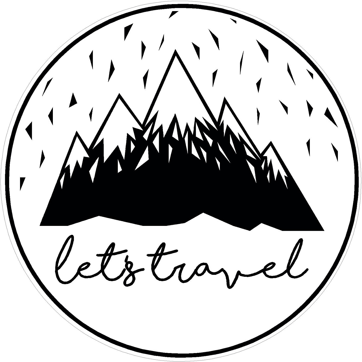 Hike Oval  Camping Travel Car Jeep Truck Sticker Decal