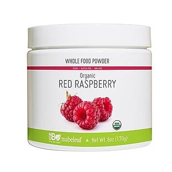 Amazon.com: nubeleaf orgánico rojo frambuesa en polvo 6oz + ...