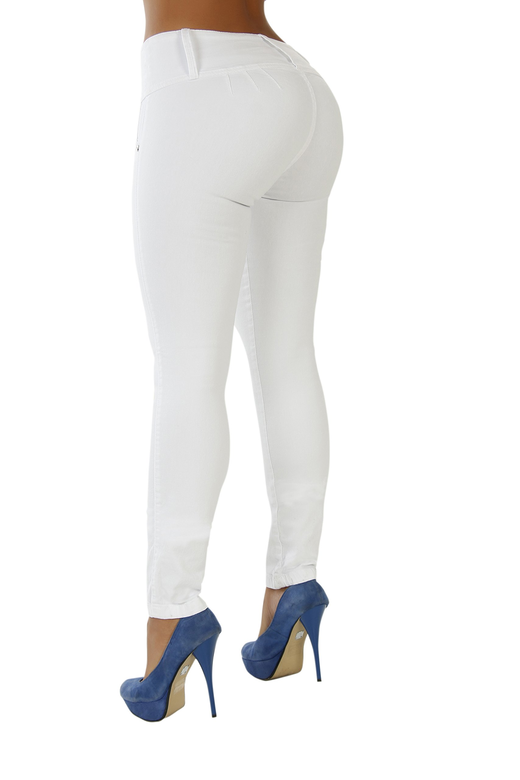 Curvify Stretch Jean 767 - A Butt Lifting Skinny Jeans for Women - No Back Pockets (767, White, 5)