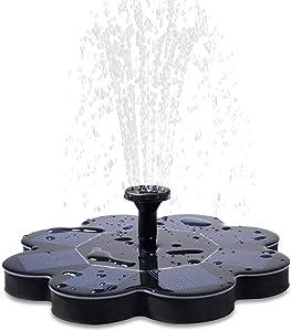 Qualife Solar Water Fountains Outdoor,Solar Powered Fountain Pump for Bird Bath,1.6W Bird Bath Fountains Solar Power,Smart Small Water Pump for Garden Birdbath Pond Pool.