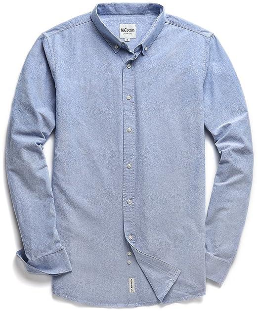 f6aea9d66 Mocotono Camisa Casual para Hombre 100% Algodón Oxford Manga Larga   Amazon.es  Ropa y accesorios