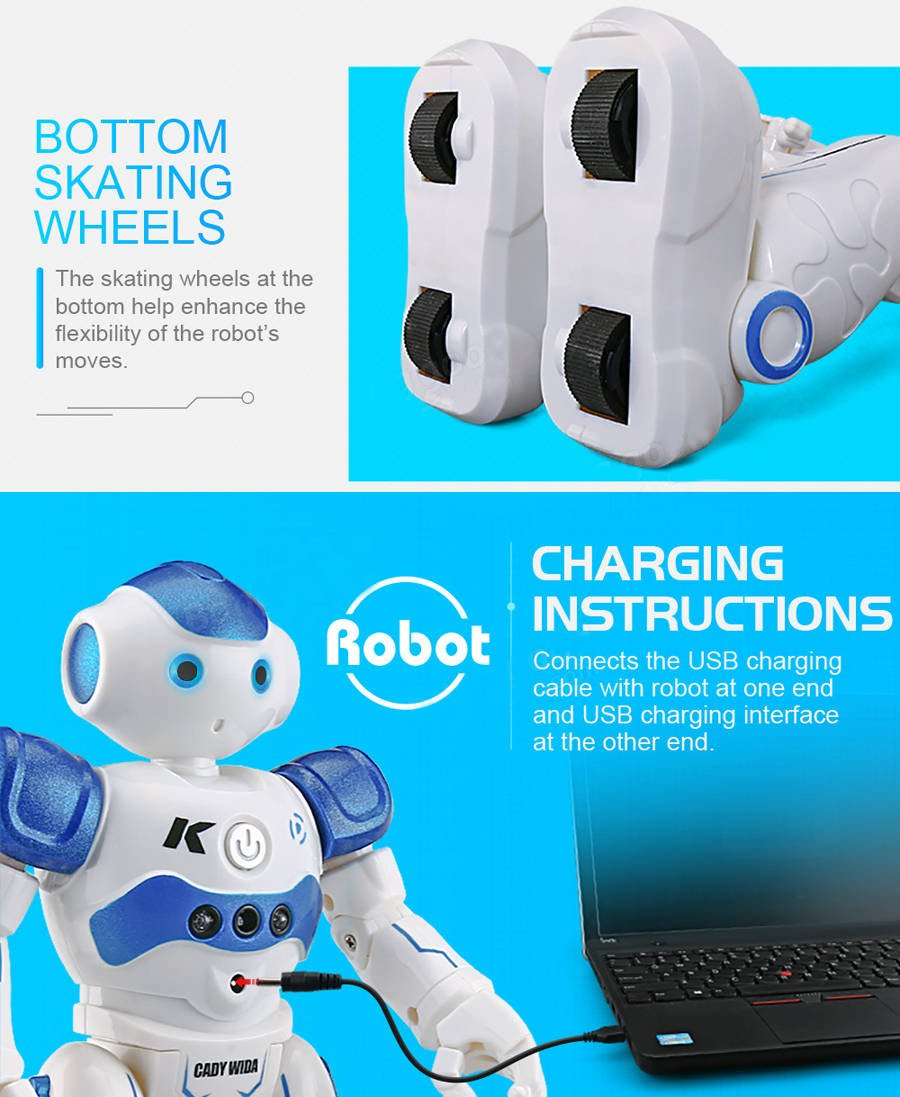 BTG R2 Cady-Wida Cady-WINI Intelligent Gesture Sensor Control RC Robot for Entertainment - Walks in All Direction, Slides, Turns Around, Dances - Toy for Boys/Girls RED by BTG (Image #4)