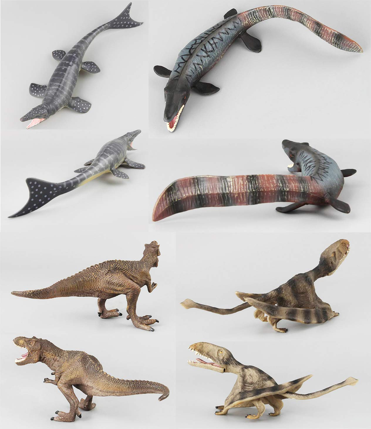 HiPlay Dinosaur Toy Figures 7 Packs Set-Realistic Design with Amazing Detail Hand-Painted Lifelike Dino Models for Kids//Collectors HP-D020