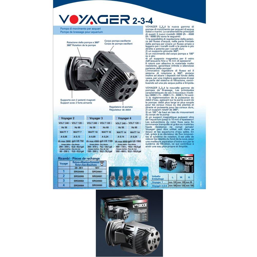 Sicce pompa voyager 2 (3000 l h 2.2 m eu  2p  230-240v-50hz) (1000054801)