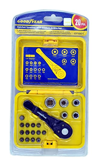 Goodyear Spanner with Sockets & Bits Set - GY10471