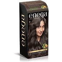 Enega Cream permanent hair color (120 ml/each) superior quality with Argan Oil & Green Tea extract NO AMMONIA Cream FORMULA smooth care for your precious hair! ORIGINAL BLACK 2 (Pack of 1)