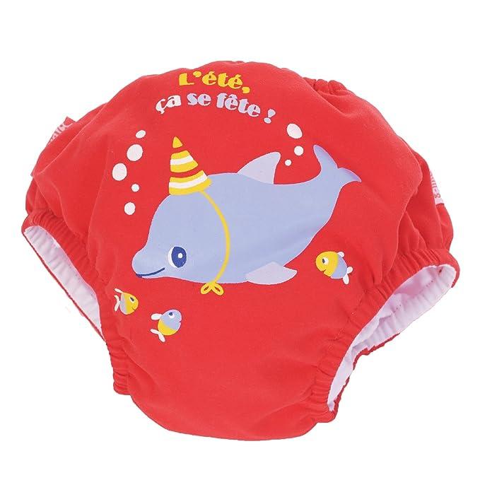 PIWAPEE - Pañal para Nadar con barreras Anti Fugas Delfín 11-14 KG / 12