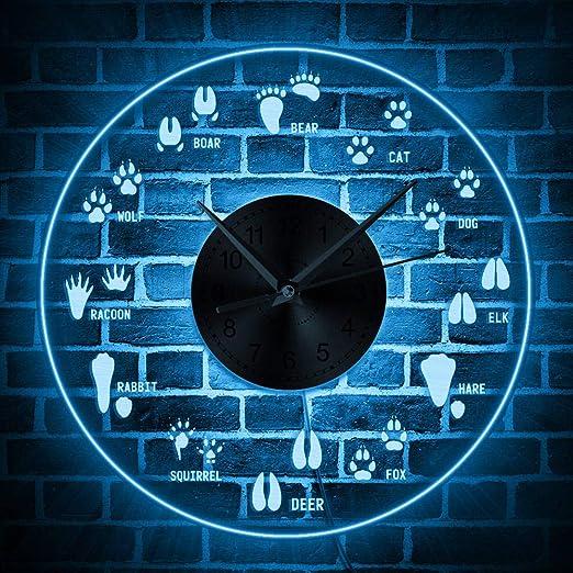 Reloj de Pared Creativo de Registro de Vinilo Reloj de jardín montado en la Pared Reloj de Pared Decoración para el hogar Reloj de Arte de Pared Regalo Creativo para Amigo: Amazon.es:
