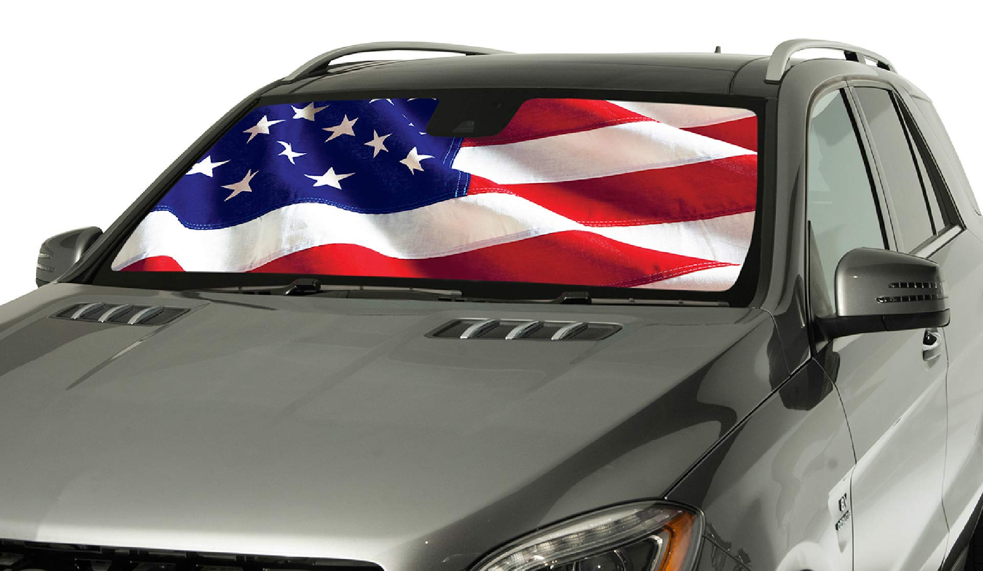 Silver Intro-Tech HM-04-S Custom Fit Windshield Snow Shade for Select Hummer H3 Models
