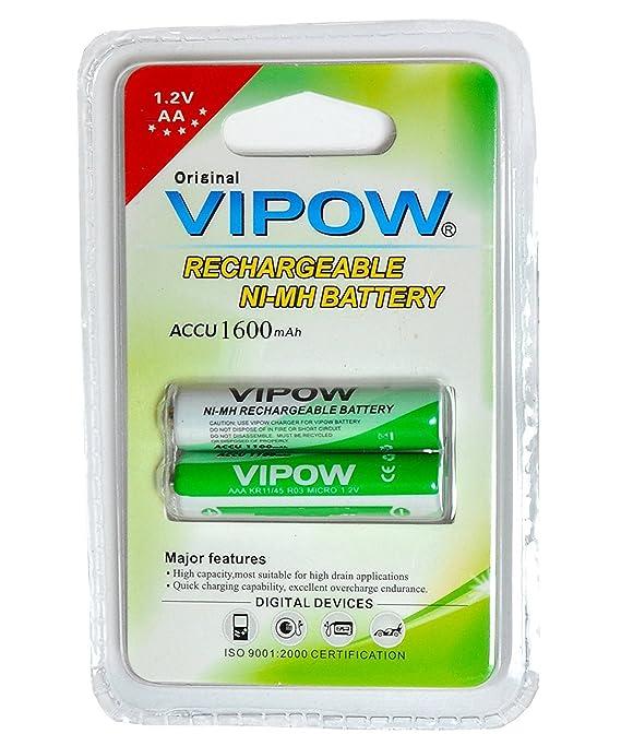 SaleOn trade; VIPOW AA Rechargeable Battery 1600mah 495 DVD Players