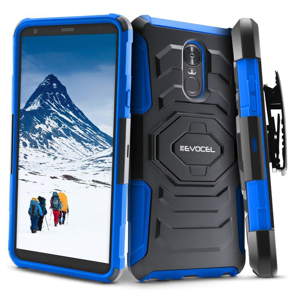 LG Stylo 4 / LG Stylo 4+ Plus Case, Evocel [New Generation Series] Belt Clip Holster, Kickstand, Dual Layer for LG G Stylo 4 / LG Stylo 4 Plus (2018 Release), Blue (EVO-LGSTYLO4-XX02)