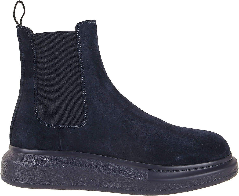 Alexander McQueen Fashion Man 586198WHXK24100 Blue Suede