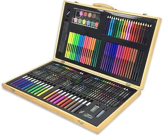 Set de dibujo a lápiz de color artista Obras de arte como 180 pinturas, pinturas en
