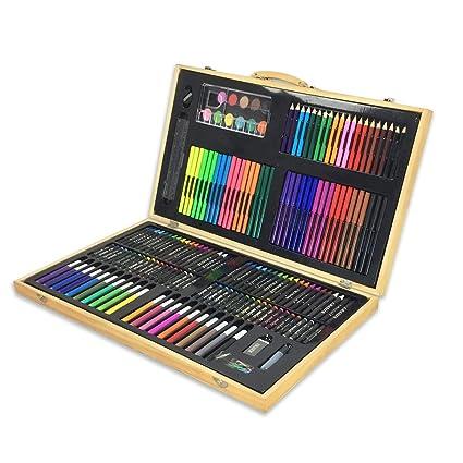 Set de dibujo a lápiz de color artista Obras de arte como ...
