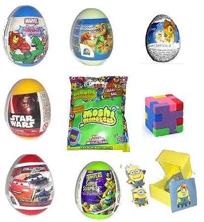 Huevos sorpresa para niños x 9 (Spiderman, aviones, coches ...