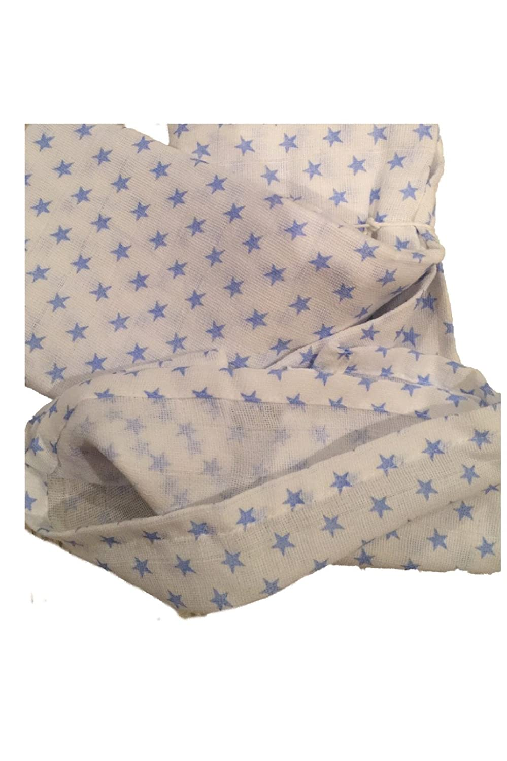 In-Obeytions Muslin Swaddle Blanket-Blue Stars 35 X 35 100/% Cotton India