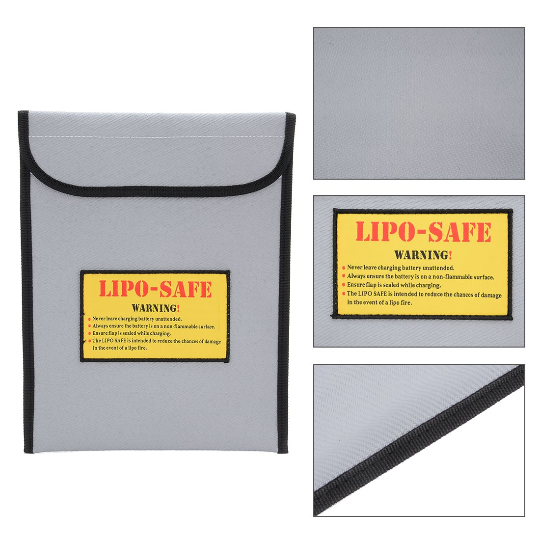 uxcell Lipo Guard Battery Fireproof Explosionproof Safety Charging Bag 300mmx230mm